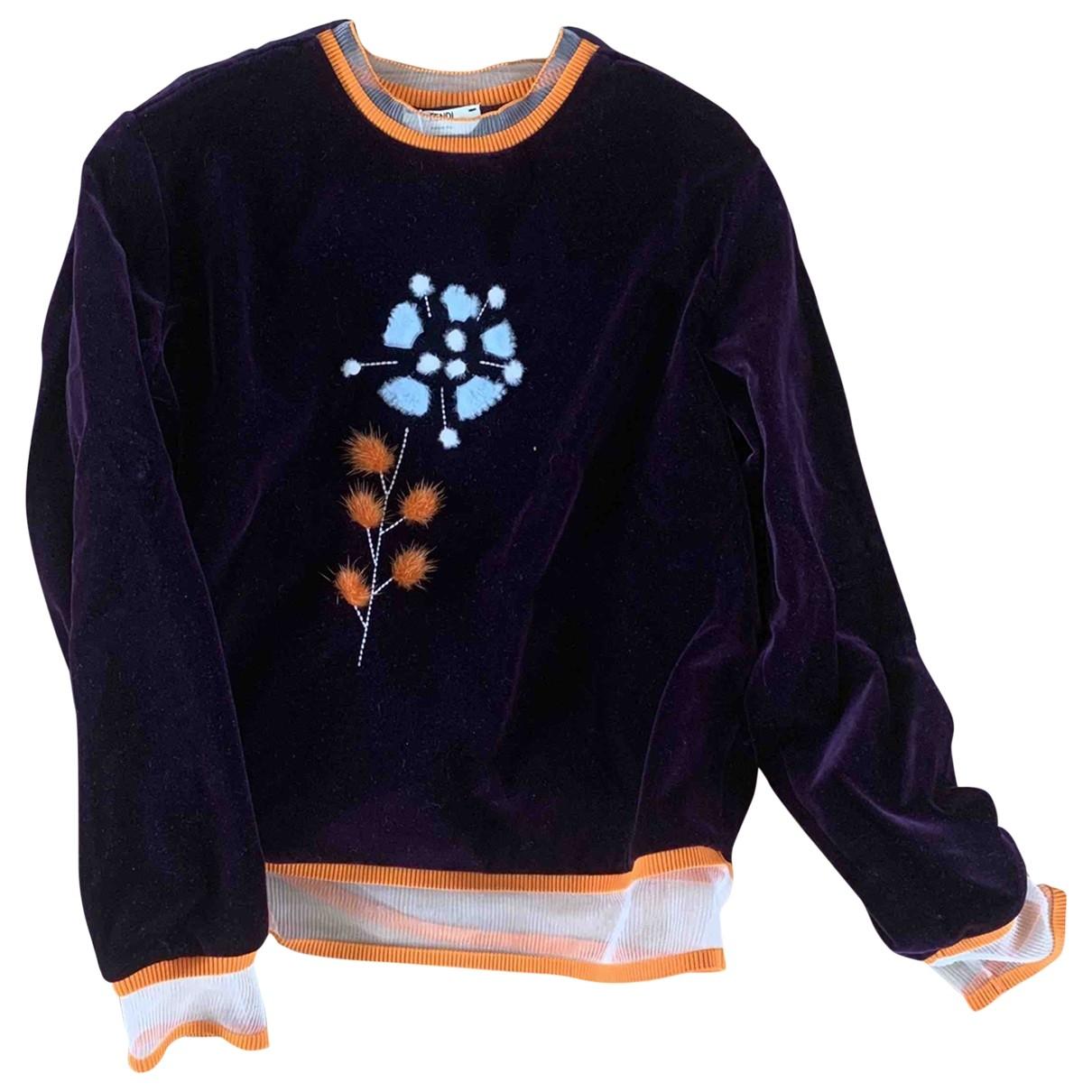 Fendi \N Burgundy Cotton Knitwear for Women 38 IT