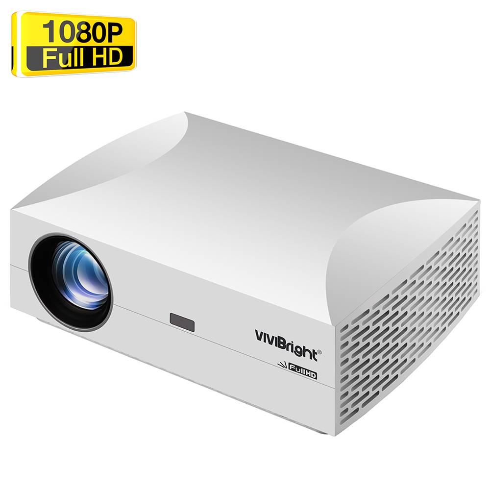 VIVIBRIGHT F30 Native 1080P LED Projector 4800 Lumens White