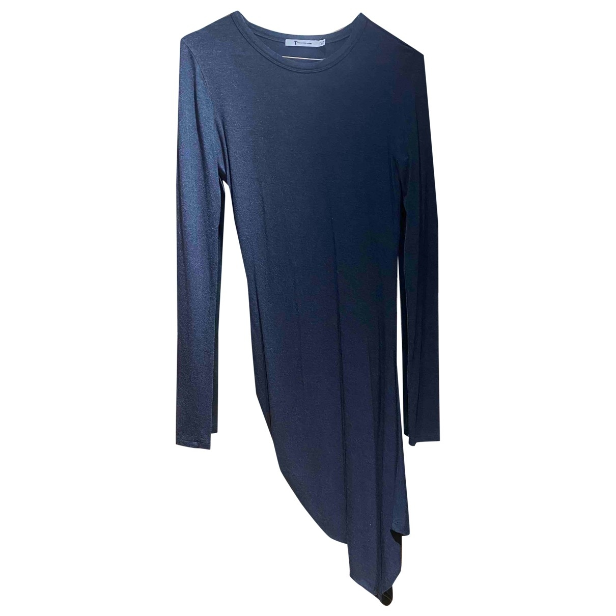 T By Alexander Wang \N Kleid in  Blau Baumwolle