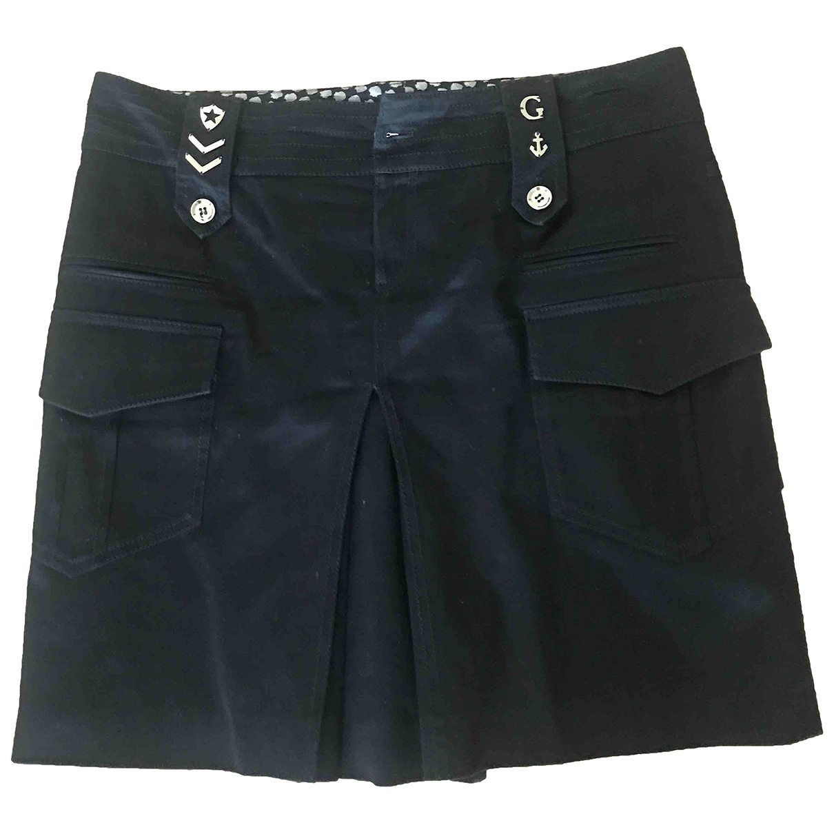 Gucci \N Black Cotton skirt for Women 44 IT