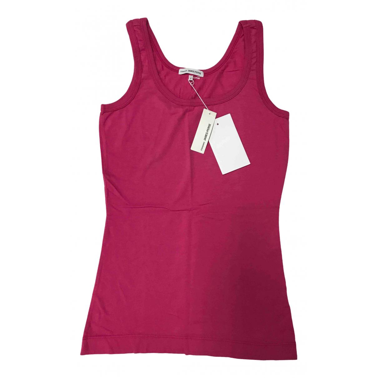 James Perse - Top   pour femme en coton - rose