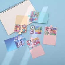 1pack Cartoon Graphic Random Sticky Note