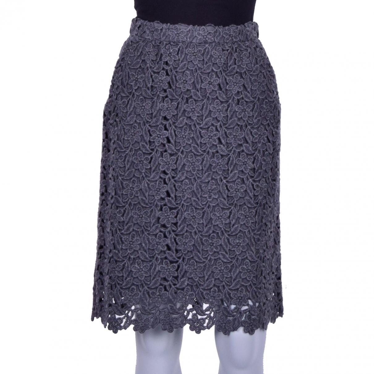 Dolce & Gabbana - Jupe   pour femme en laine - gris