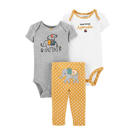 Carter's Baby Girls 3-pc. Baby Clothing Set, Newborn , Multiple Colors