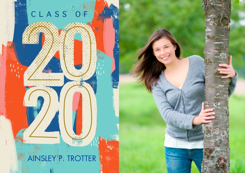 Graduation Announcements 5x7 Cards, Premium Cardstock 120lb with Scalloped Corners, Card & Stationery -Class of 2020 Graffiti Announcement by Hallmark