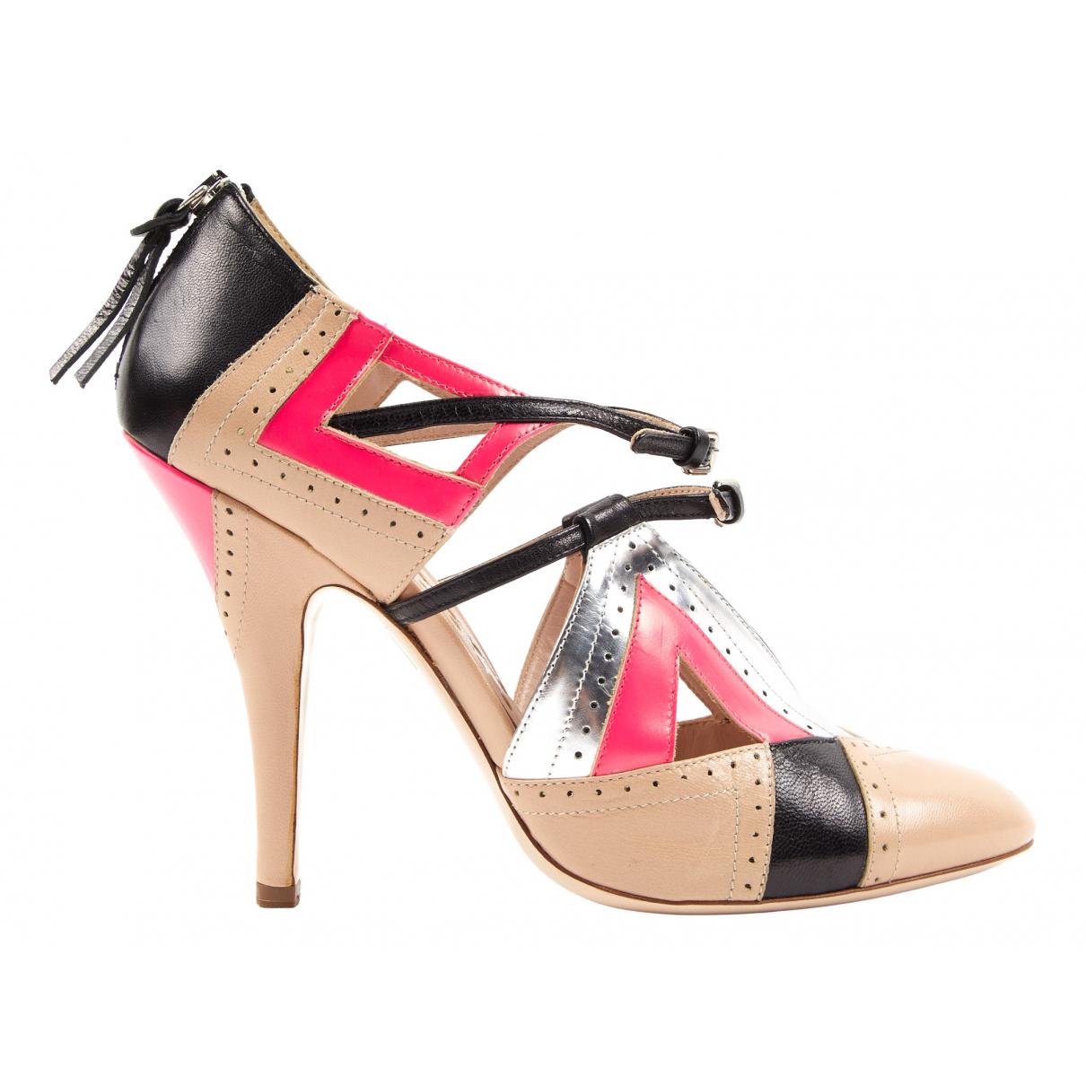 Miu Miu N Multicolour Leather Heels for Women 40 EU