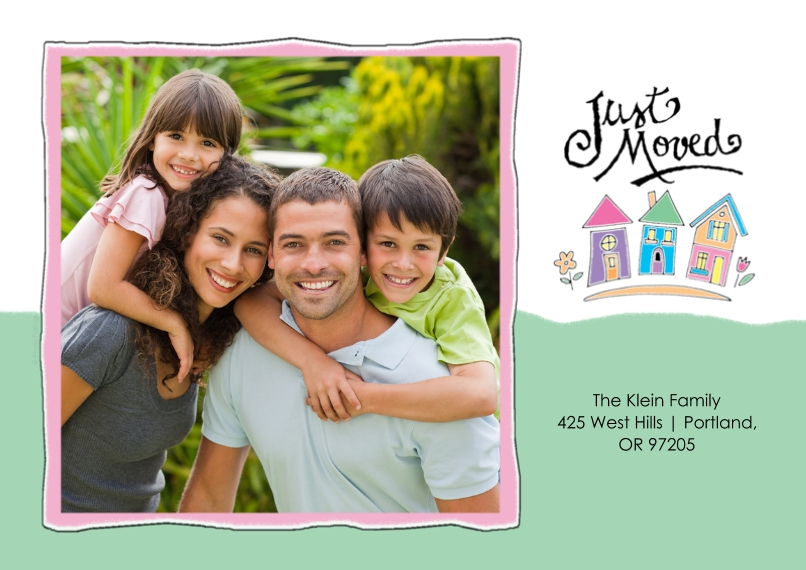 Moving 5x7 Cards, Premium Cardstock 120lb with Rounded Corners, Card & Stationery -Just Moved