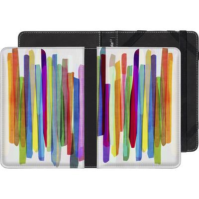 Sony Reader PRS-T1 eBook Reader Huelle - Colorful Stripes 1 von Mareike Bohmer