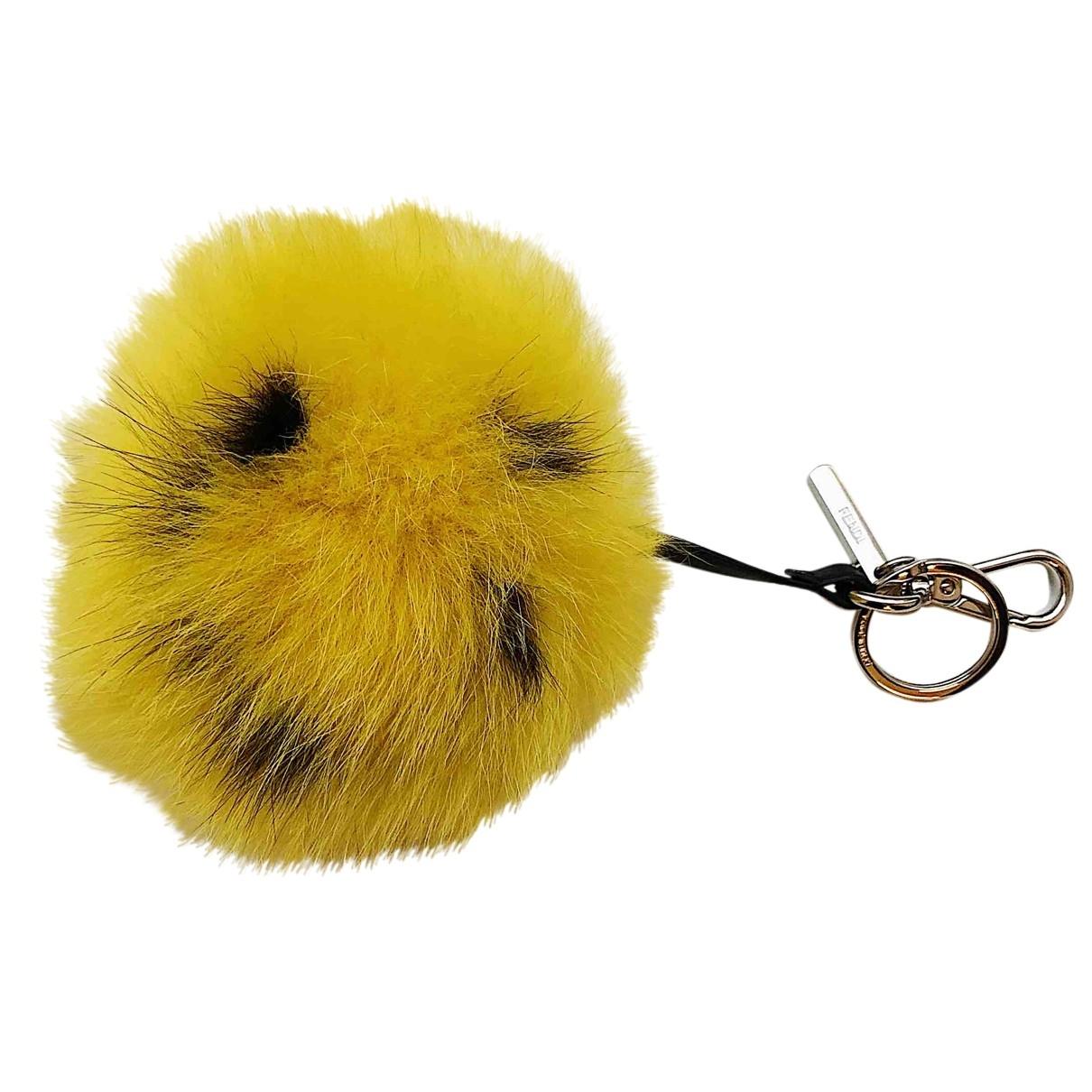 Fendi - Petite maroquinerie   pour femme en renard - jaune