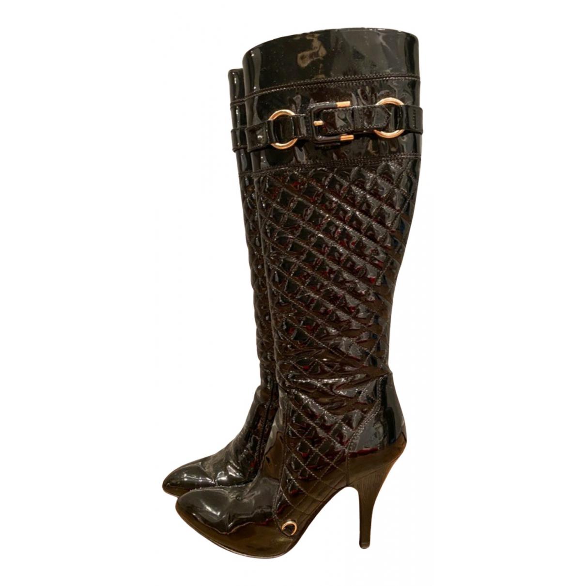 Burberry - Bottes   pour femme en cuir verni - noir