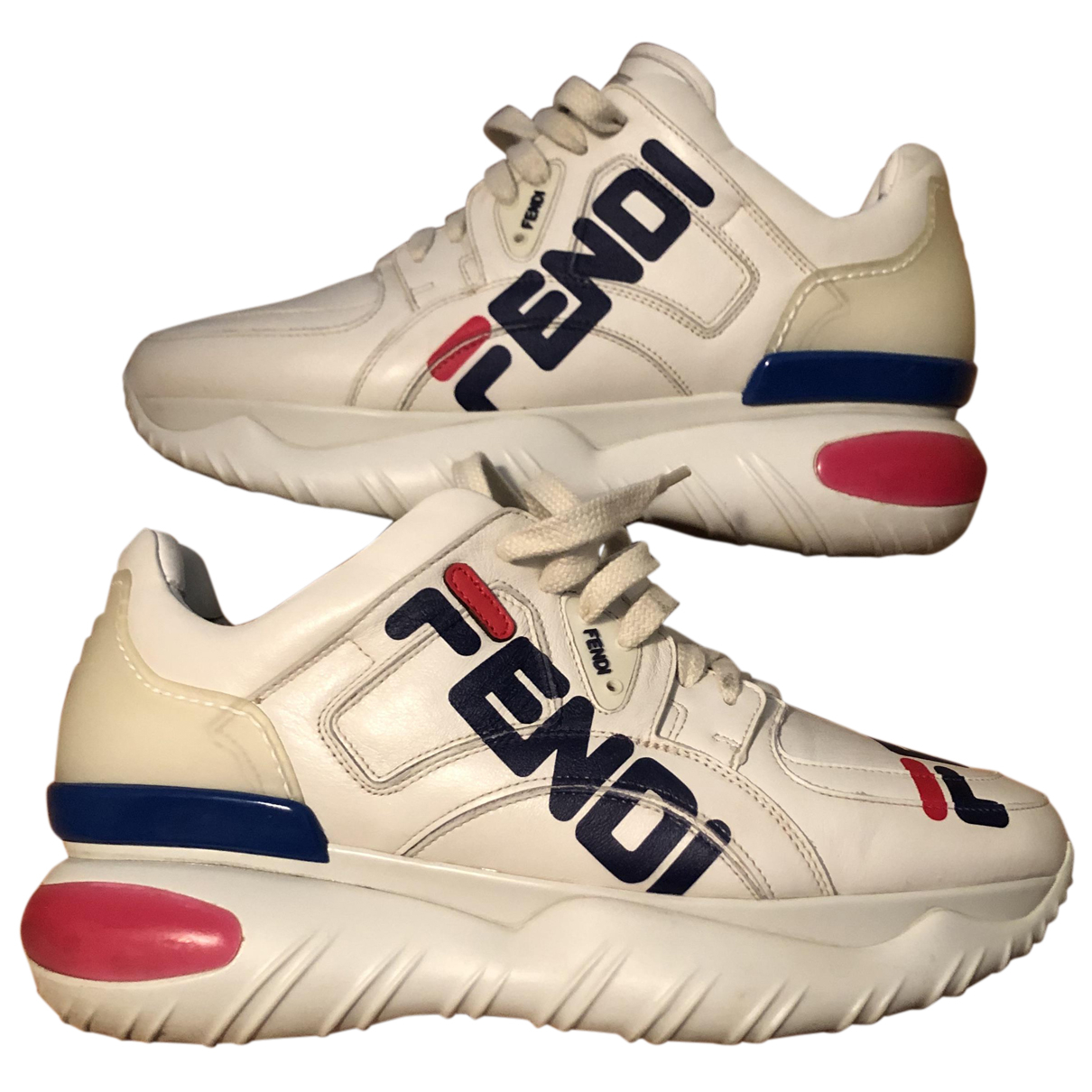 Fendi X Fila \N Sneakers in  Beige Leder