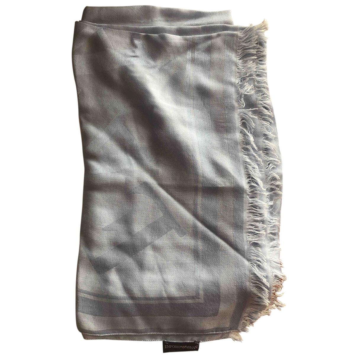 Emporio Armani \N Turquoise Cotton scarf for Women \N