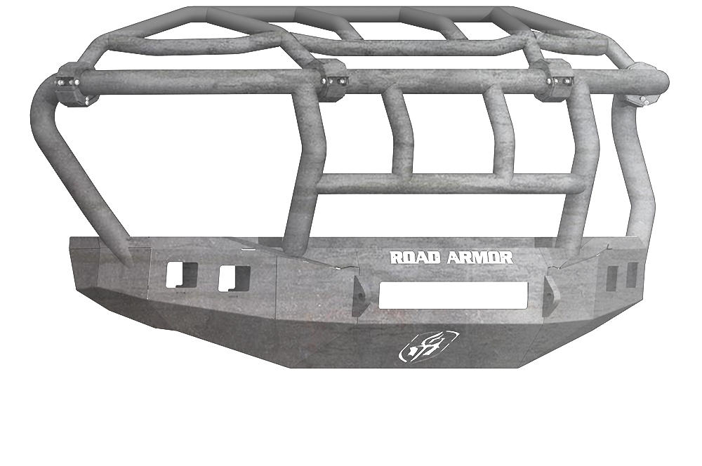 FORD F-450,F-550 SUPER DUTY 17-17 Front Stealth Non-Winch Bumper Square Light Port Intimidator Guard RAW Road Armor 61743Z-NW