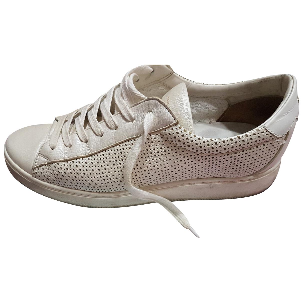 Philippe Model \N Sneakers in  Beige Leder