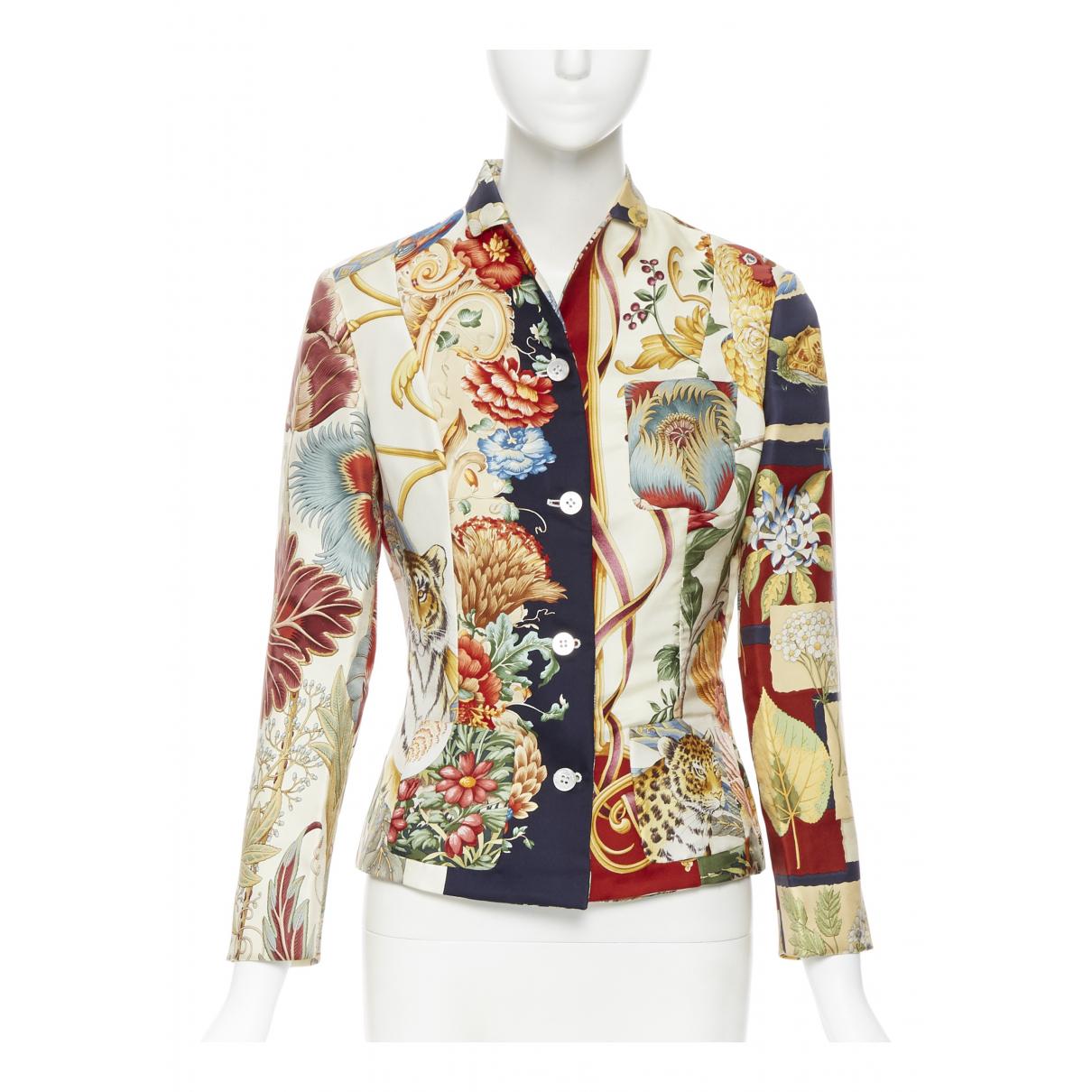 Salvatore Ferragamo - Veste   pour femme en soie - multicolore