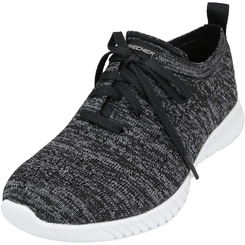 Skechers Women's Wave-Lite - On My Level Black / White Ankle-High Fabric Sneaker 5M