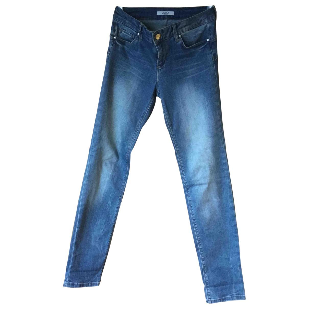 Liu.jo - Jean   pour femme en coton - elasthane - bleu
