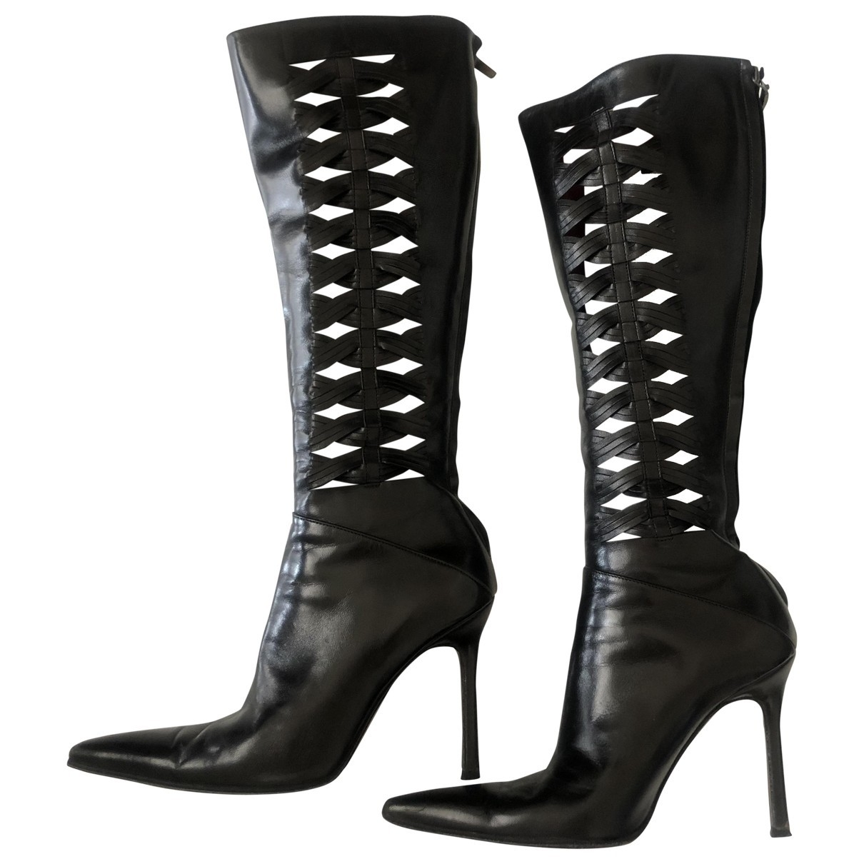 Cesare Paciotti \N Black Leather Boots for Women 36 EU