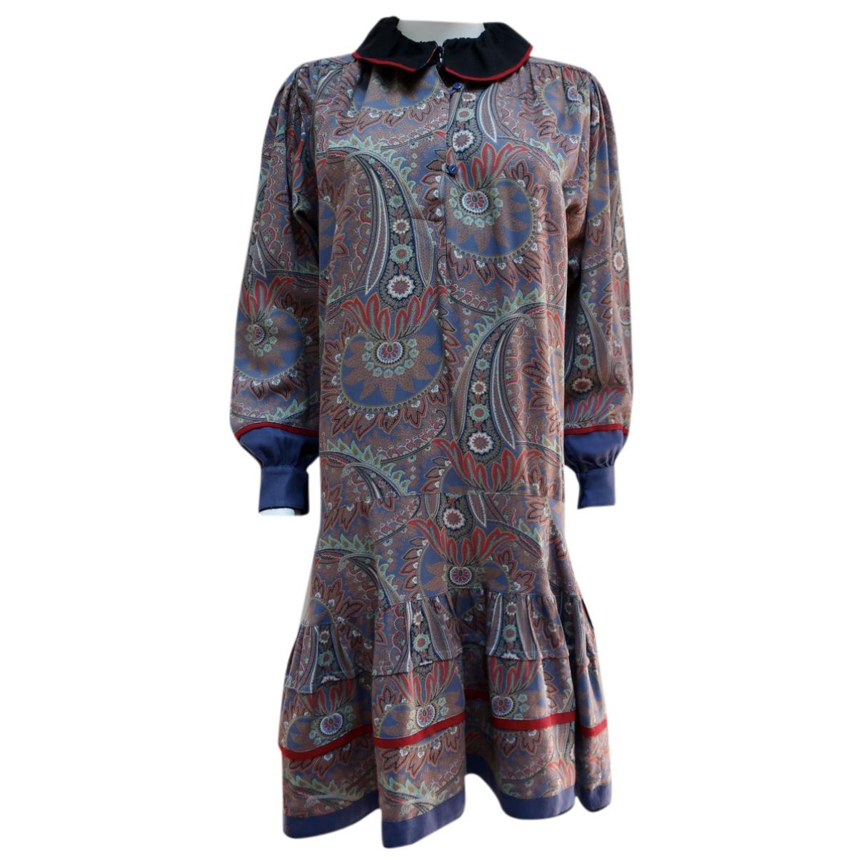Kenzo \N Kleid in  Bunt Wolle
