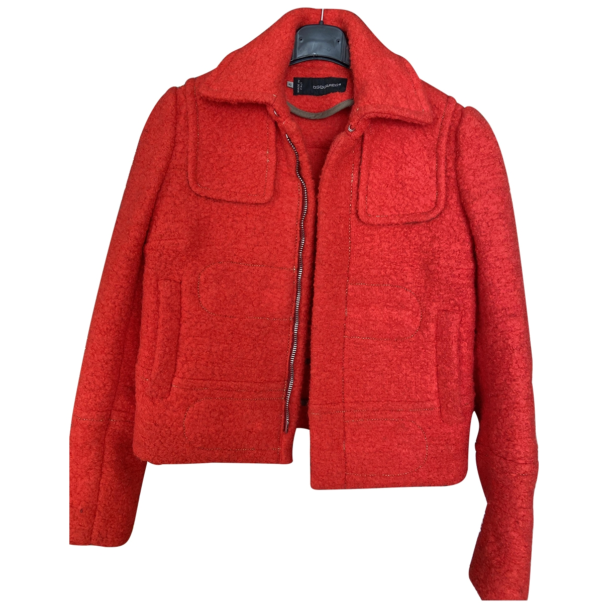 Dsquared2 \N Red Wool jacket for Women 40 IT