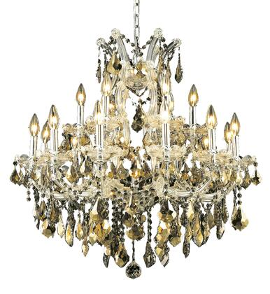 2800D30C-GT/SS 2800 Maria Theresa Collection Hanging Fixture D30in H28in Lt: 18+1 Chrome Finish (Swarovski Strass/Elements Golden