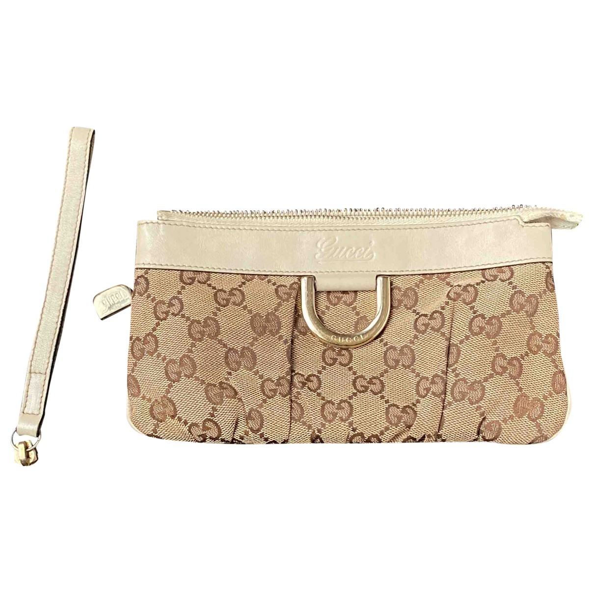 Gucci \N Clutch in  Kamel Baumwolle