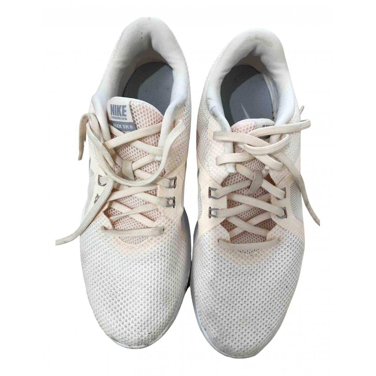 Nike - Baskets   pour femme en toile - beige