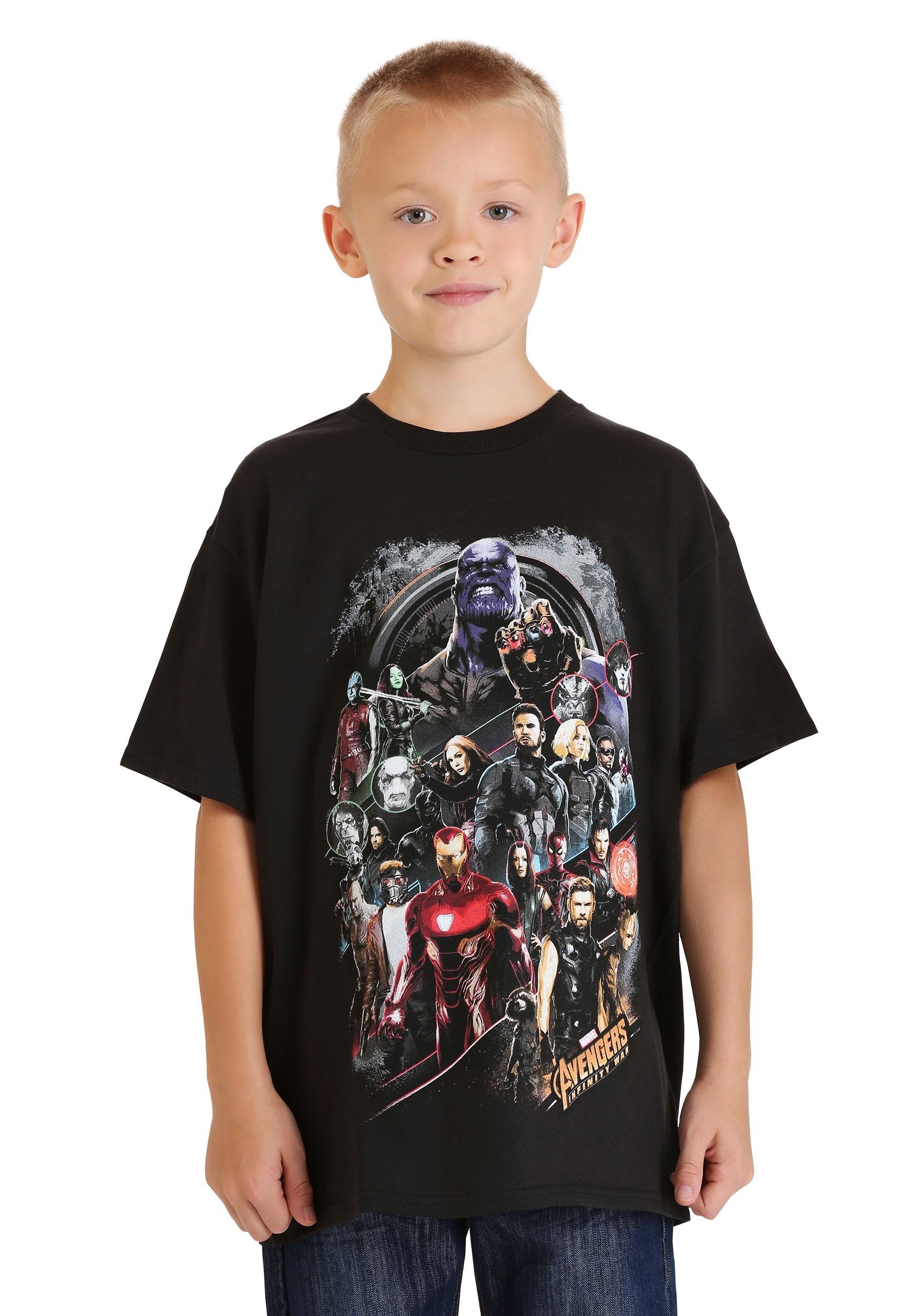 Boys Avengers Infinity War Group Shot Youth T-Shirt