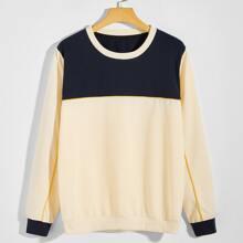 Sweatshirt mit Farbblock