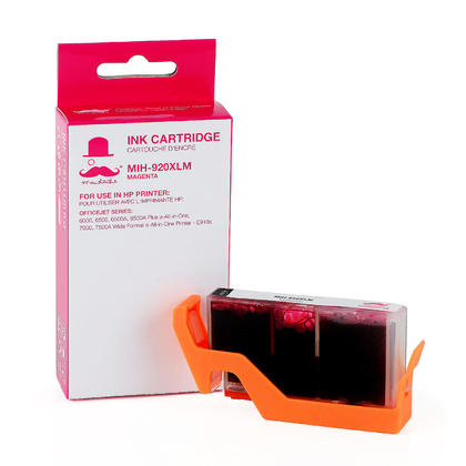 Compatible HP 920XL CD973AN Magenta Ink Cartridge - High Yield Version of HP 920 Magenta Ink - Moustache