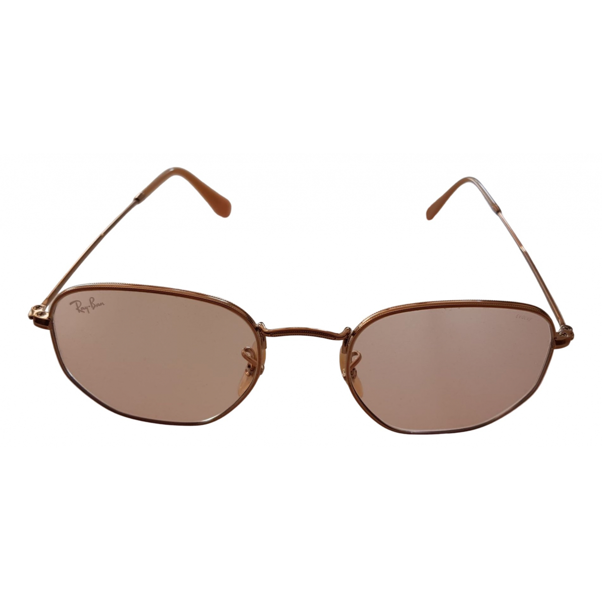Ray-ban Hexagonal Pink Metal Sunglasses for Women \N
