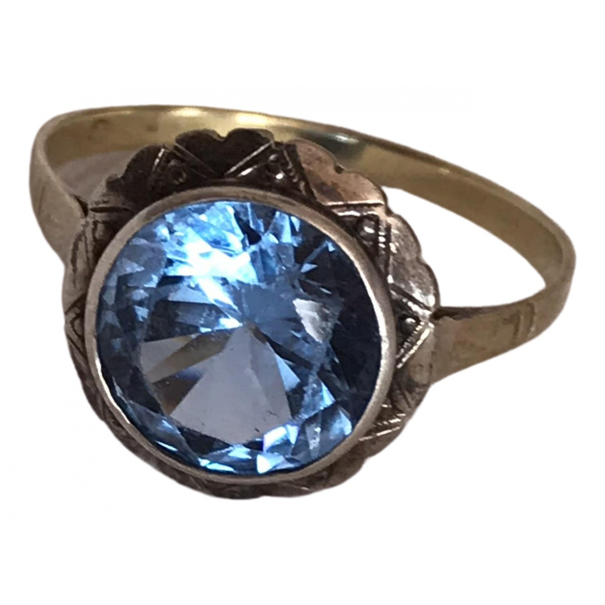 Non Signe / Unsigned \N Ring in  Blau Gelbgold