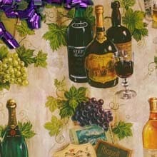 Vintage Grapes Gift Wrap - 30 X 417' - Gift Wrapping Paper by Paper Mart