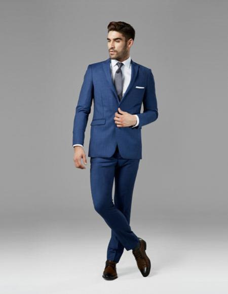 Mens mystic blue best Suit buy one get one suits free Suit