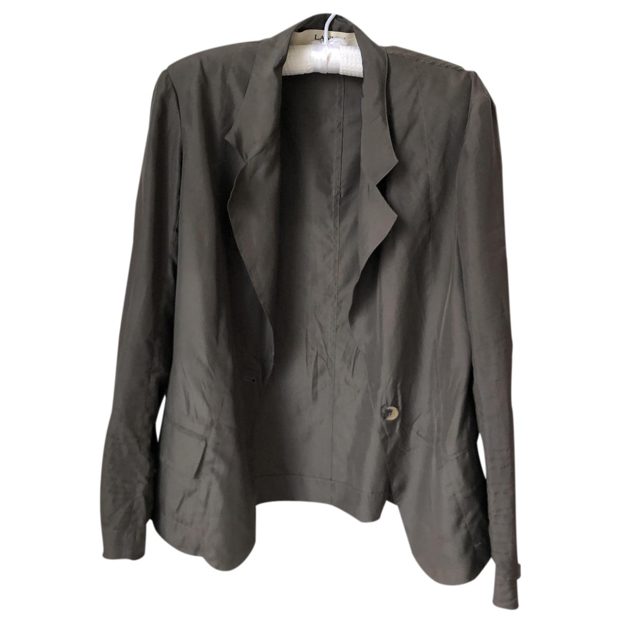 Lanvin N Black Silk jacket for Women 36 FR