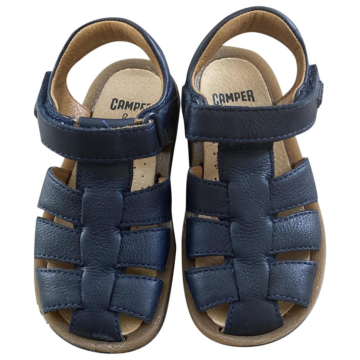 Camper \N Blue Leather Sandals for Kids 25 FR