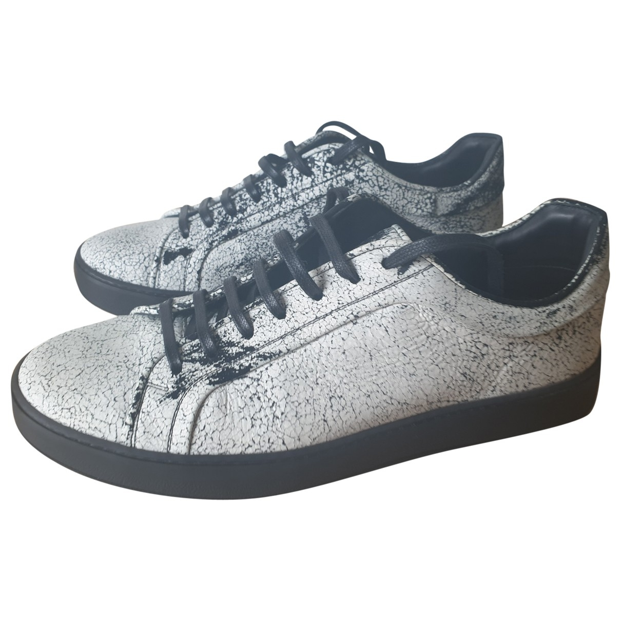 Dior Homme B18 White Leather Trainers for Men 43 EU