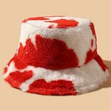 Graphic Fluffy Bucket Hat