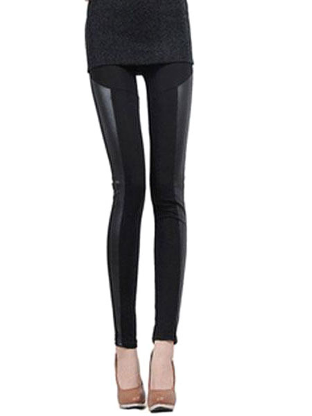 Milanoo Black Spandex Slim Fit Leggings for Women