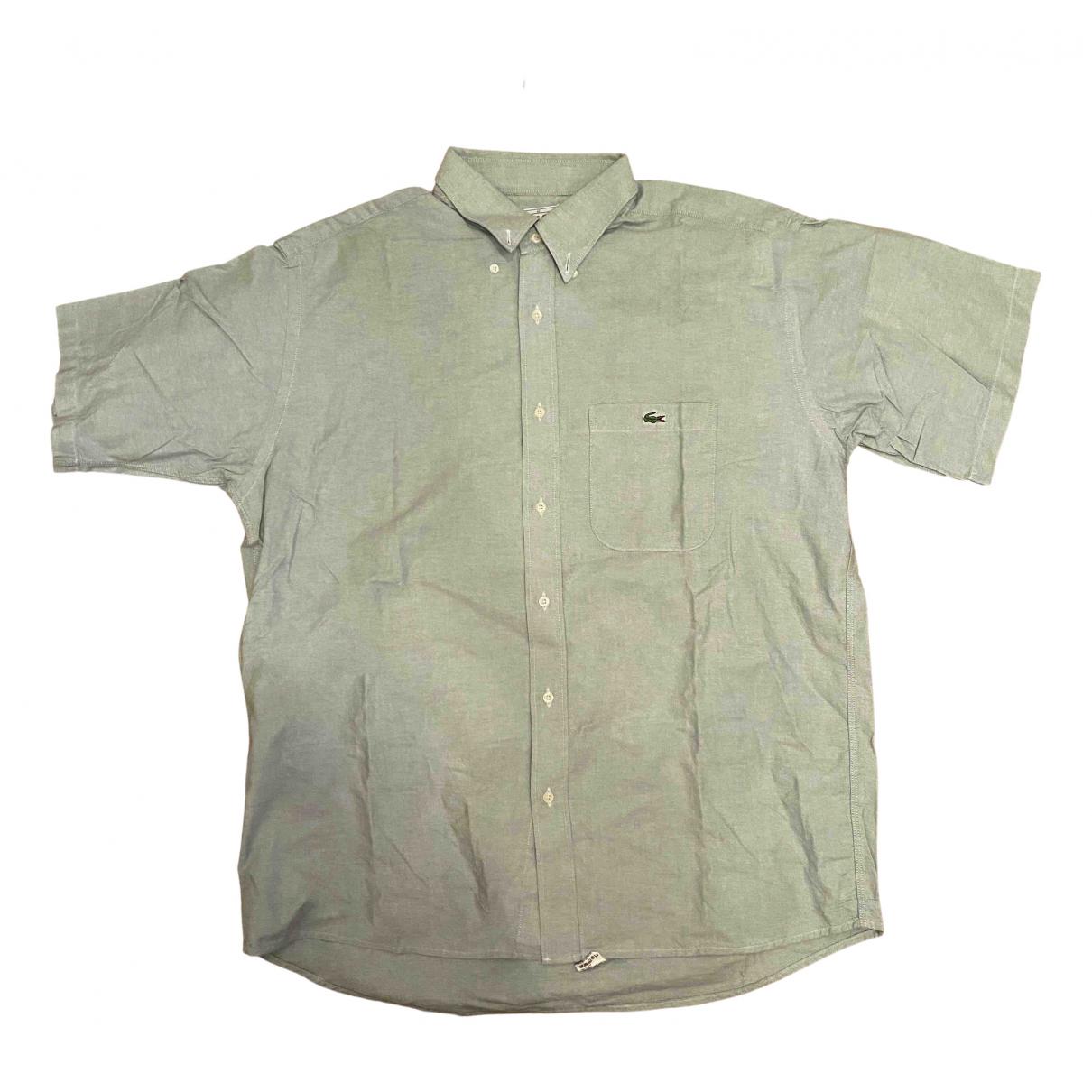 Lacoste - Chemises   pour homme en coton - vert