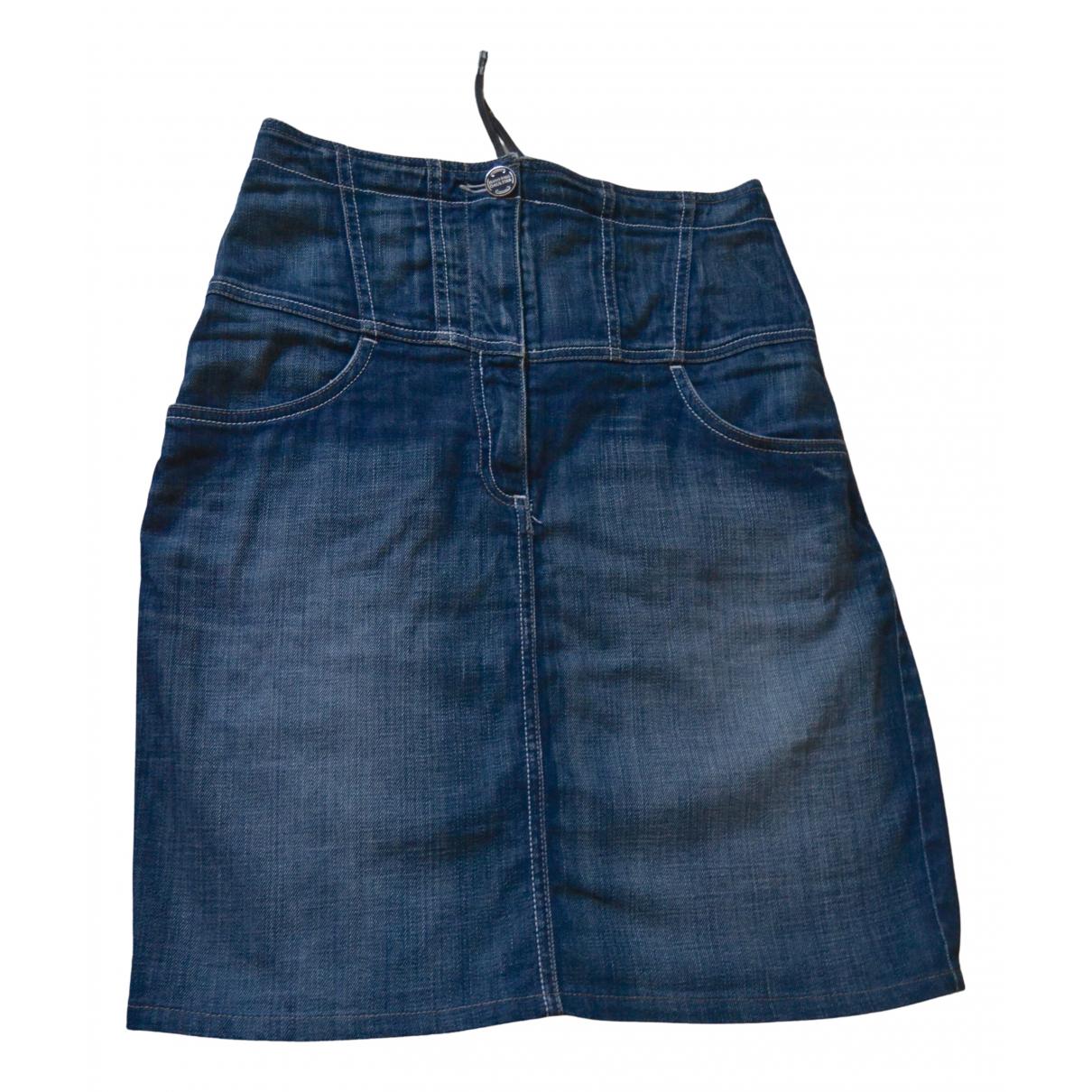 Jean Paul Gaultier \N Blue Denim - Jeans skirt for Women M International