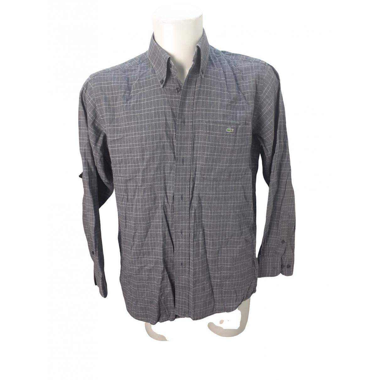 Lacoste - Chemises   pour homme en coton - anthracite