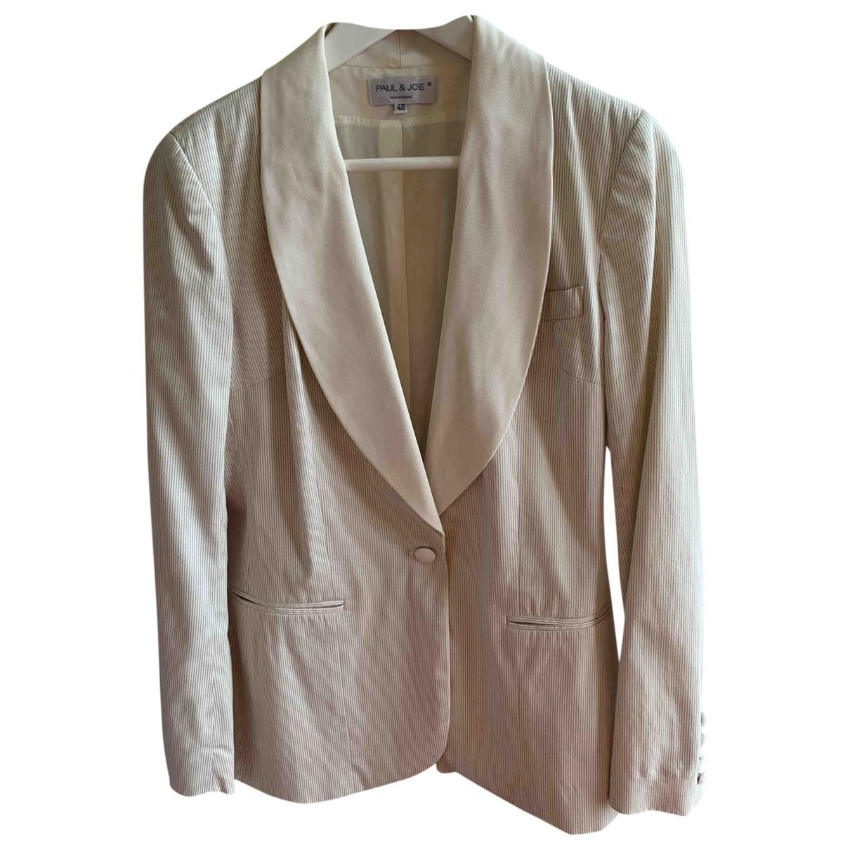 Paul & Joe \N White Cotton jacket for Women 42 FR