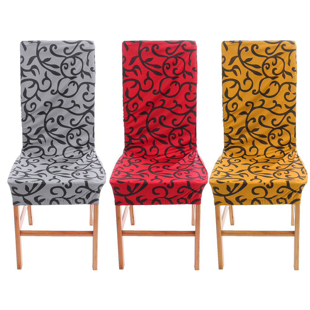 6PCS Removable Stretch Wedding Banquet Chair Cover Party Dining Room Seat Cover