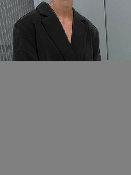 Milanoo Blazer blanco para mujer, elegante, cuello vuelto, manga larga, doble botonadura, blazers