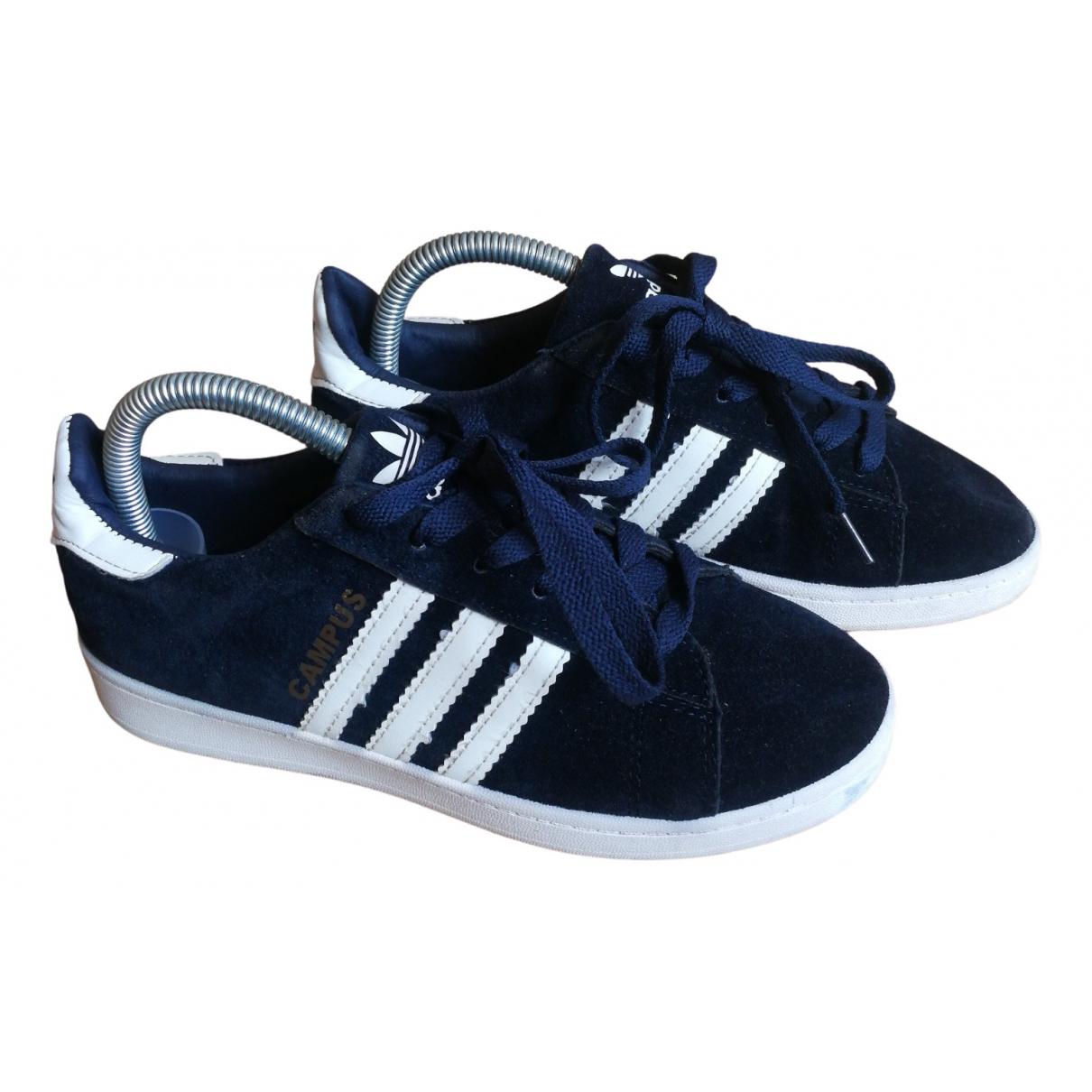 Adidas - Baskets   pour femme en suede - bleu