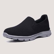 Zapatillas deportivas anchas sin cordones de hombres