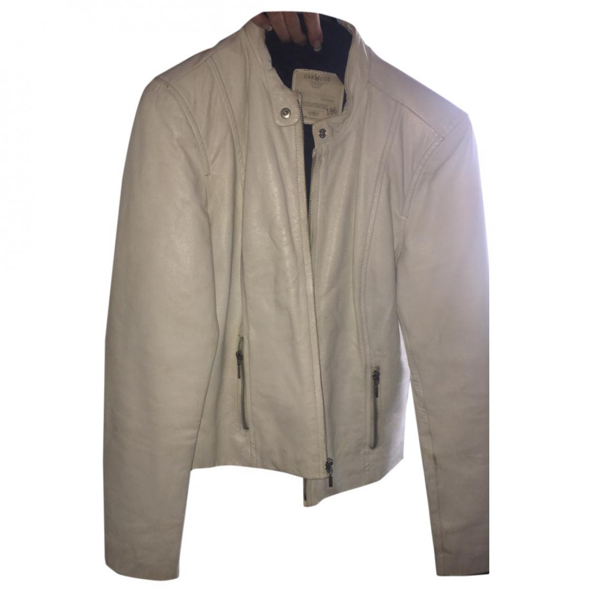 Oakwood - Veste   pour femme en cuir - blanc