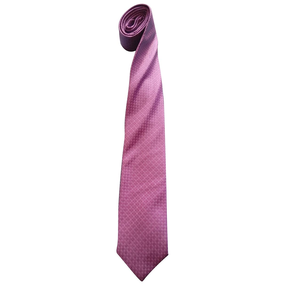 Boss \N Krawatten in  Lila Seide