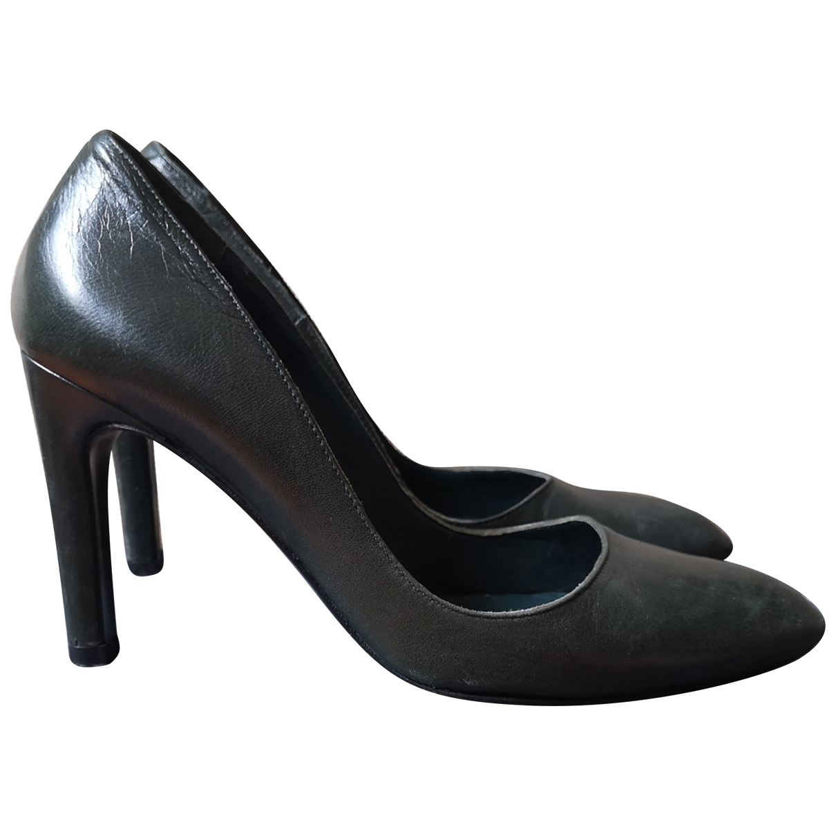 Momoni \N Green Leather Heels for Women 38 EU